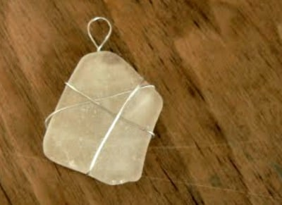sea glass pendant for kids