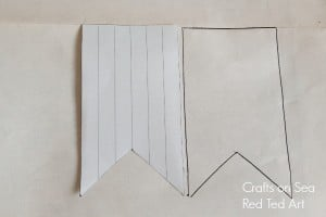 template vintage map bunting