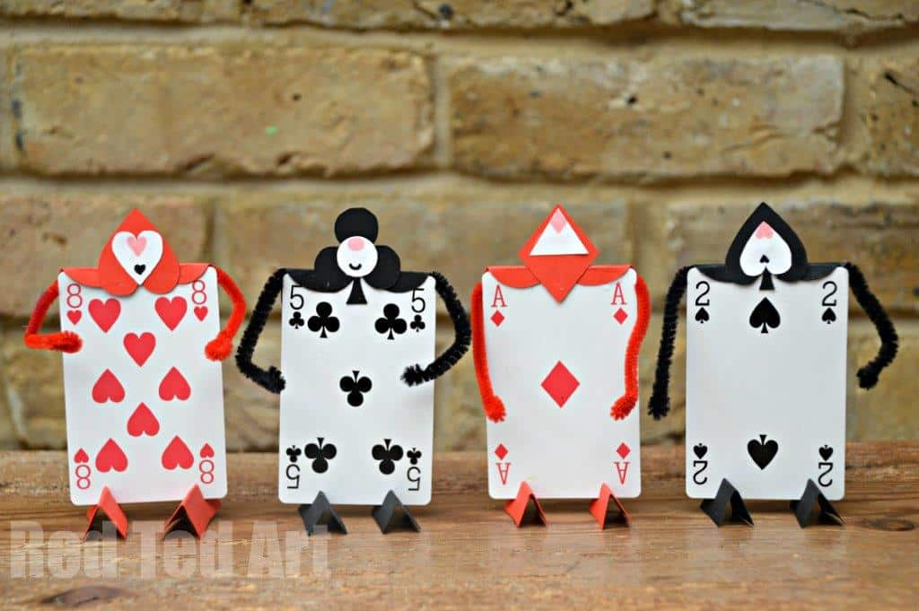 Alice In Wonderland Crafts Card Soldiers Red Ted Art