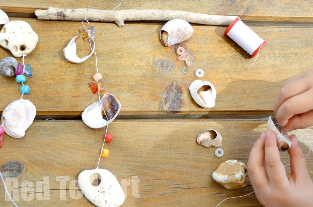 Beach Shell Wind Chime Craft