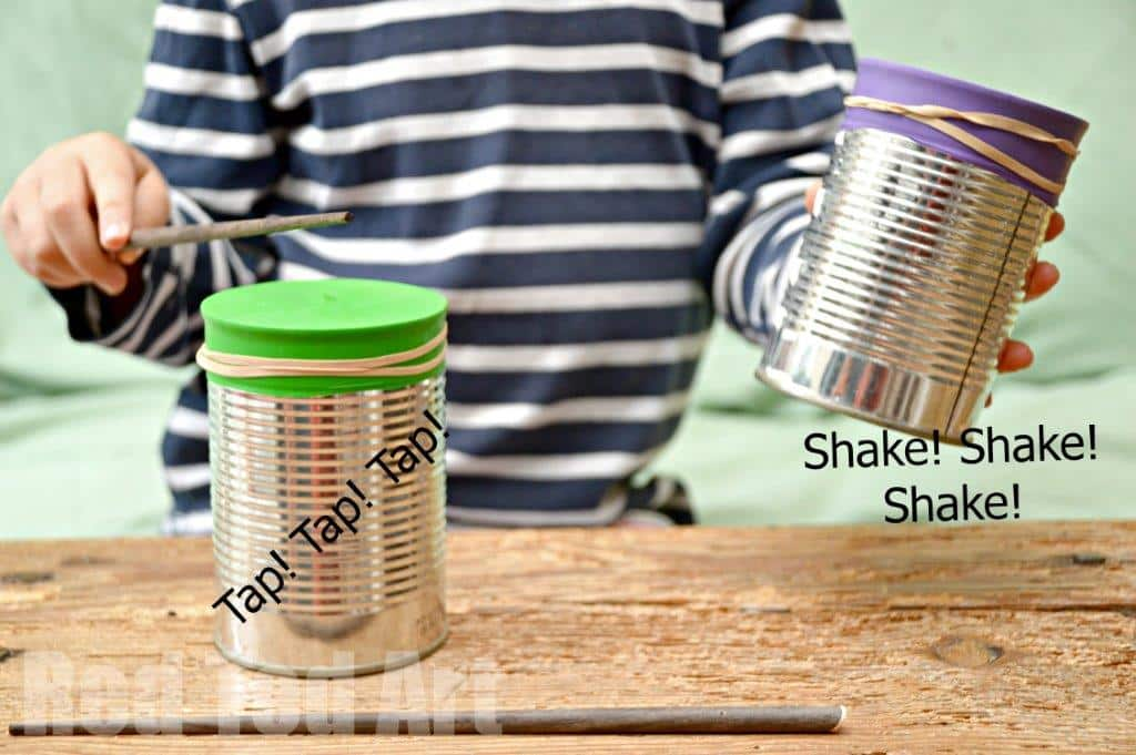 DIY Drums and Shakes – Tin Can Crafts