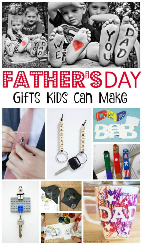 Collage of Father's Day Crafts for Kids to make