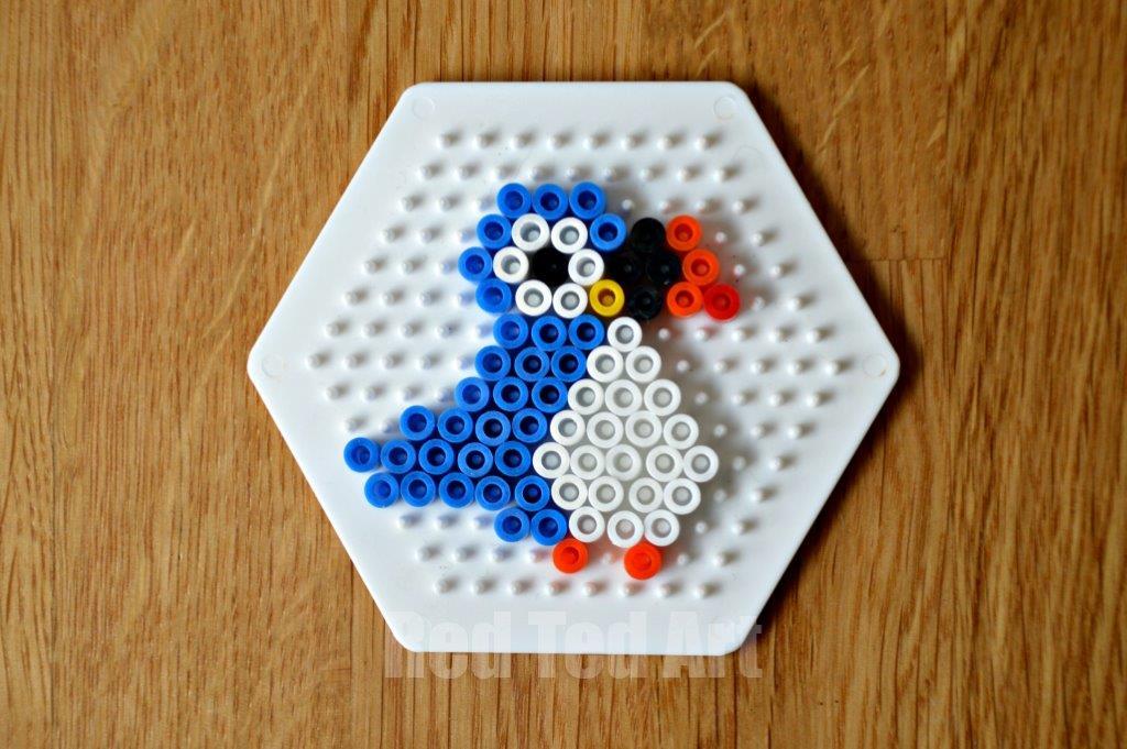 Hama Bead Birds - Puffin - Keyring