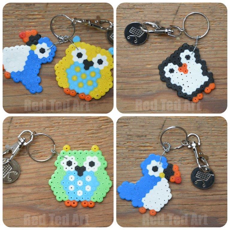 Hame Bead Gift Ideas - Owl Keyring