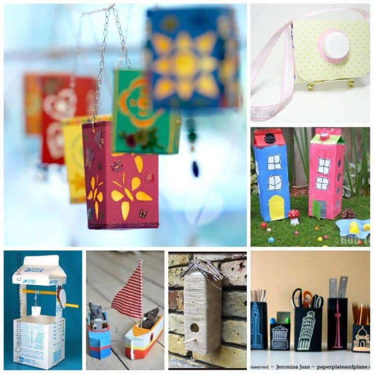 Over 25 Milk Carton Craft Ideas