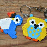 Owl Crafts - Hama Bead Keyrings