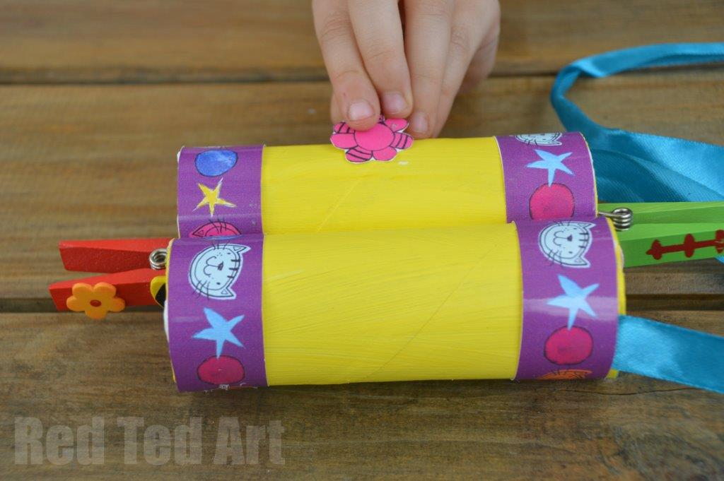 TP Roll Crafts for kids - binoculars