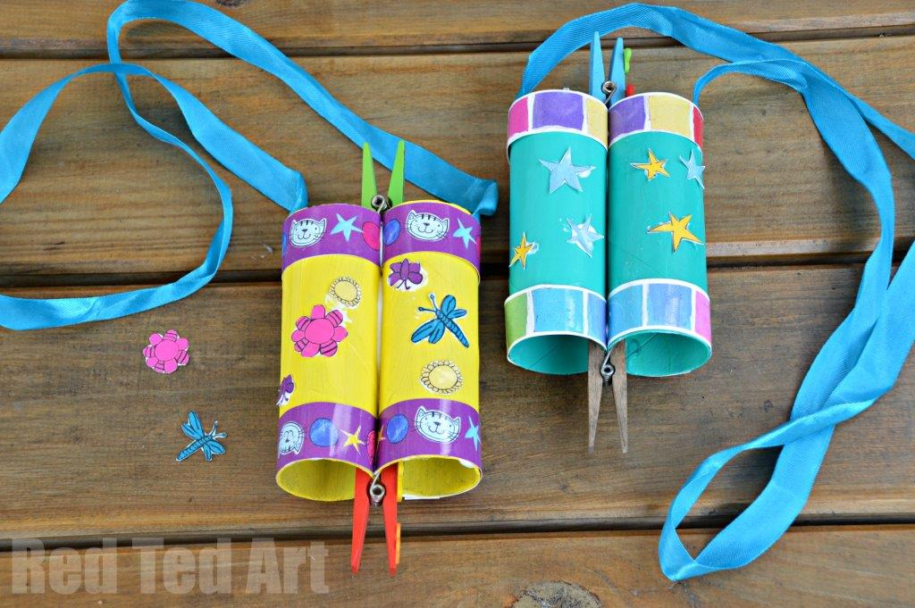 TP Roll Crafts for kids - make binoculars
