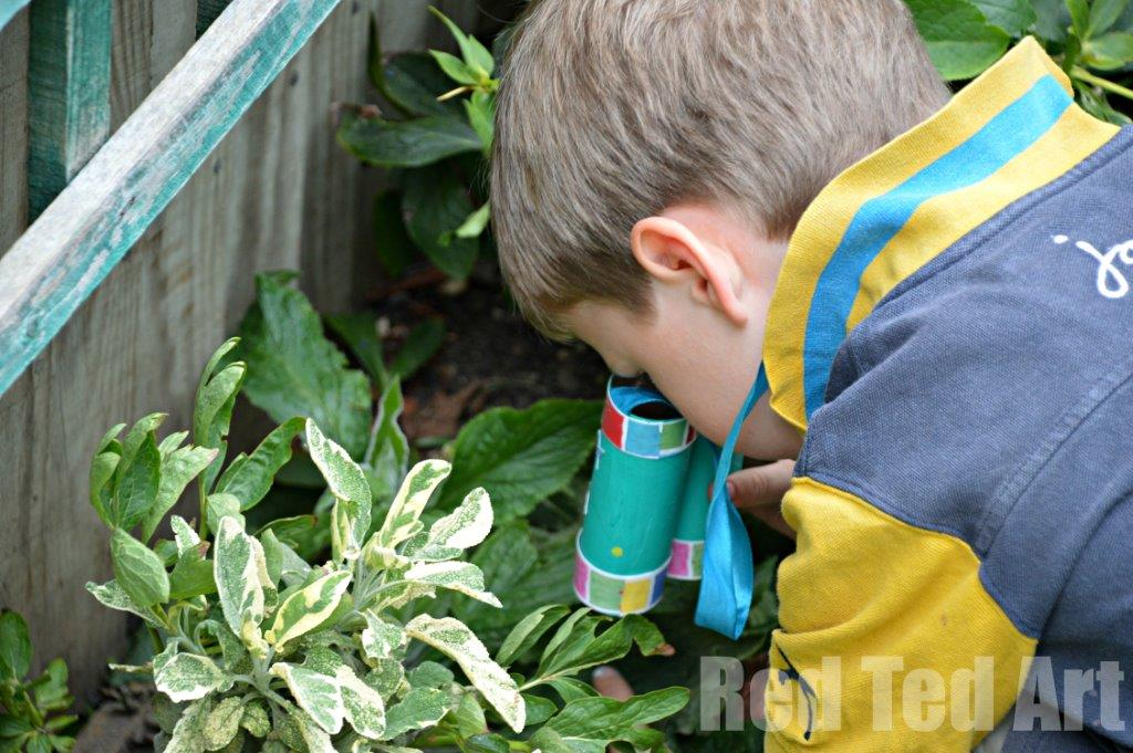 TP Roll Crafts to make with kids - binoculars