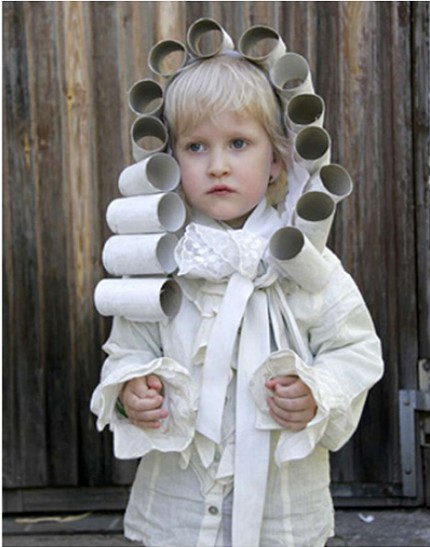 TP Roll Crafts - wig costume
