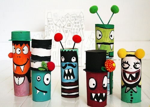 TP Roll Monster Crafts halloween