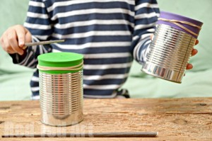 Tin Can Crafts - 5 Minute Drums & Shaker actiivity!
