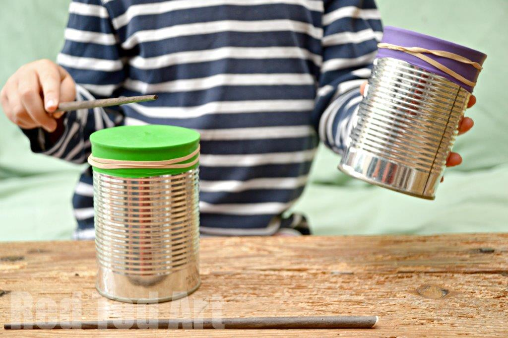 Tin Can Crafts – 5 Minute Drums & Shaker actiivity!
