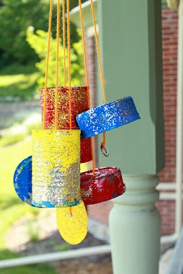Tin Can Crafts windchimes
