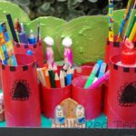 Kids Crafts: Castle Desk Tidy