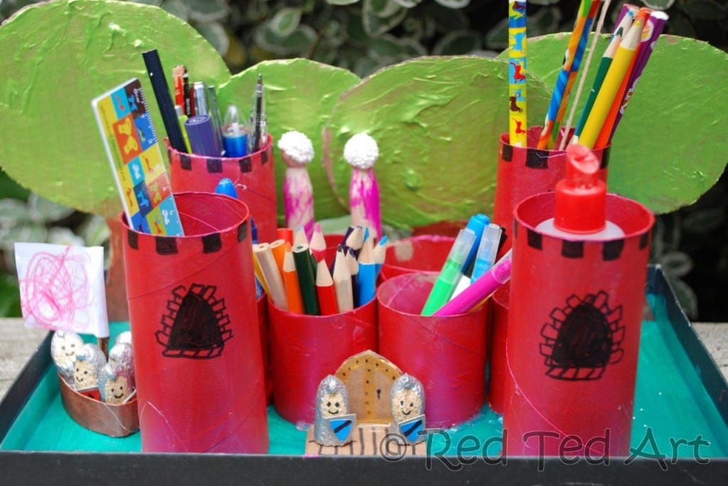Kids Crafts Castle Desk Tidy Red Ted Art S Blog