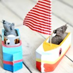 milk carton crafts boats