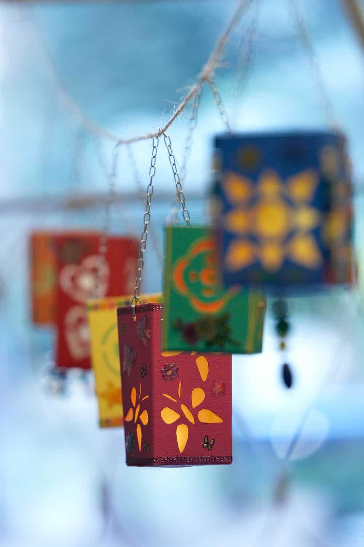 milk carton lanterns