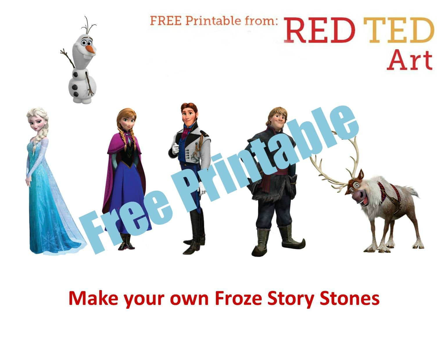 story stones printable Red Ted
