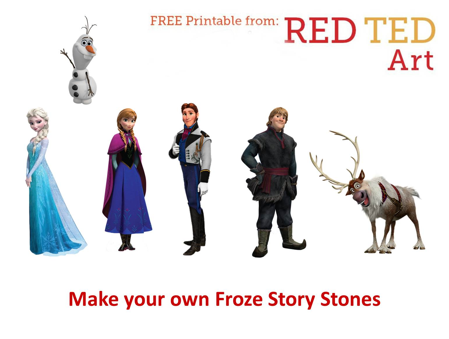 frozen story stones red ted art s blog
