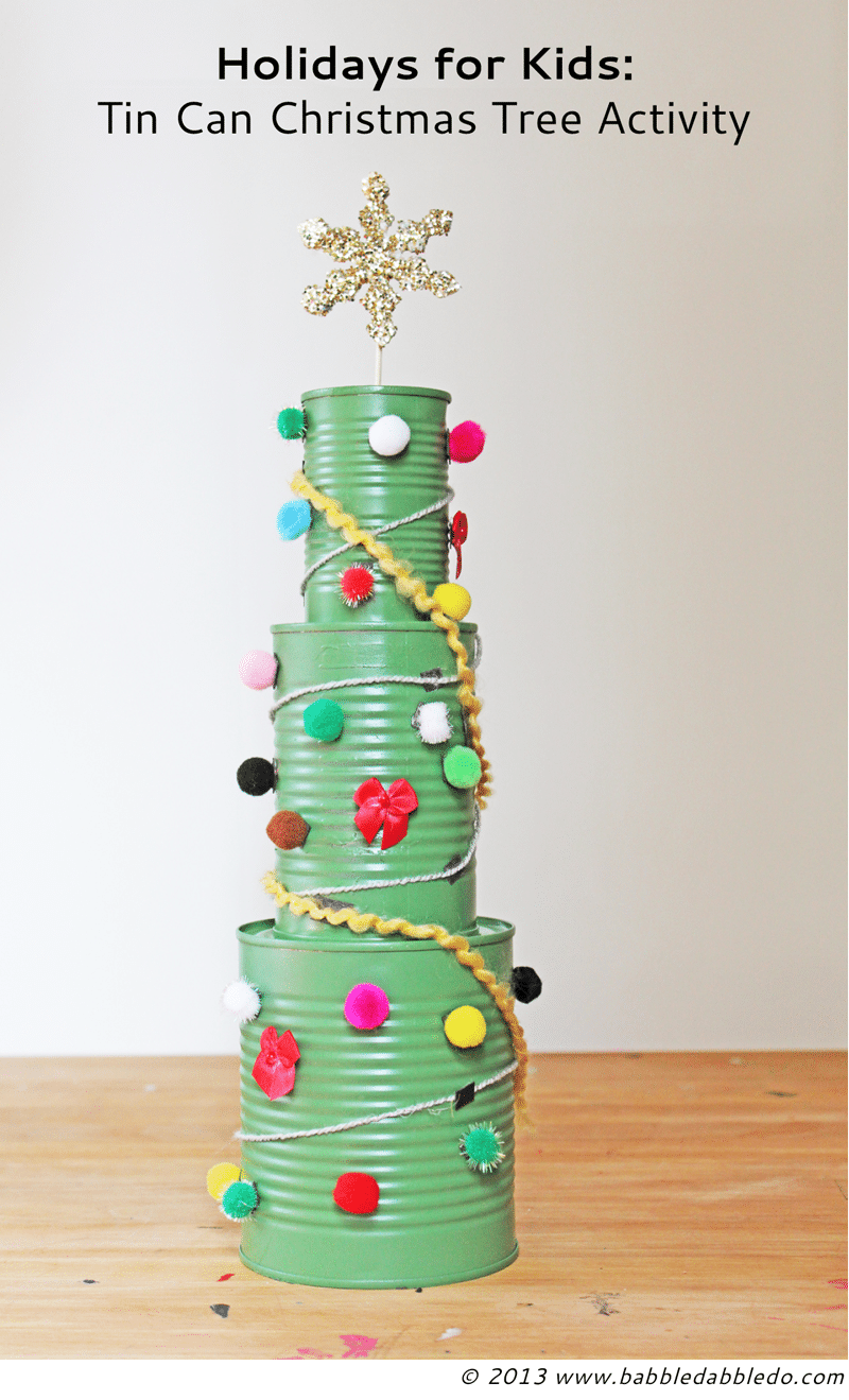 tin can crafts christmas tree