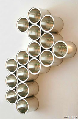 tin can wall organiser
