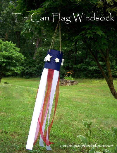 tin can windsock 4th July