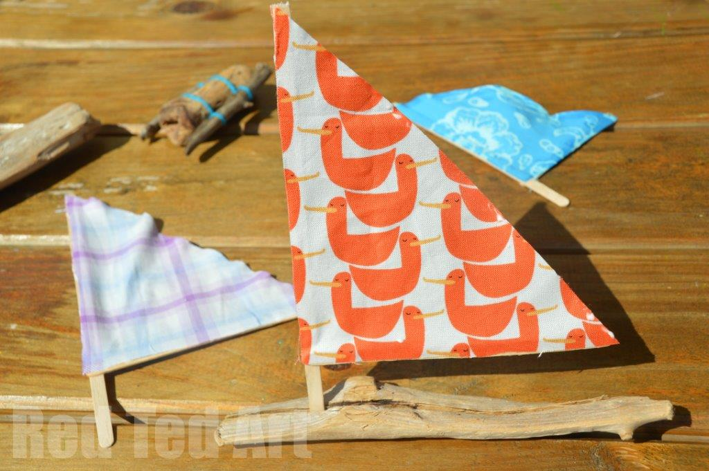 driftwood crafts sail boats red ted art 39 s blog