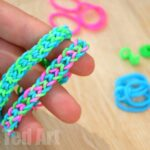 Rainbow Looms: Inverted Fishtail using your Fingers