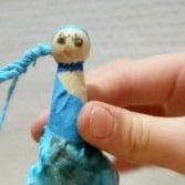 Frozen Elsa Clothes Pin Doll