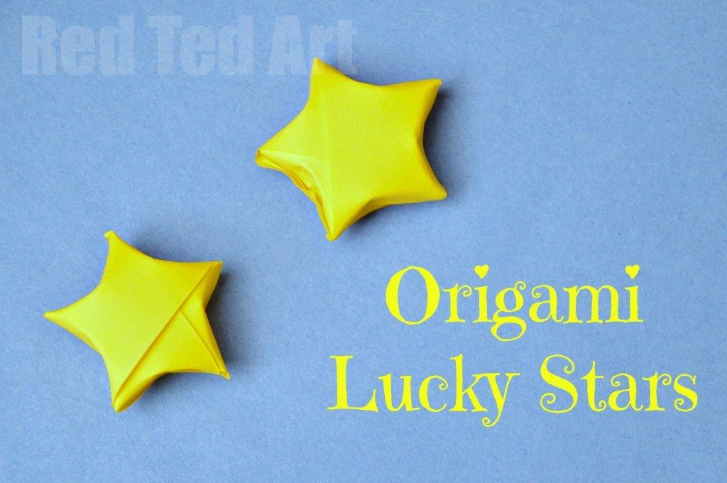 Origami lucky stars so easy to make with these step by for How to make a star with paper step by step