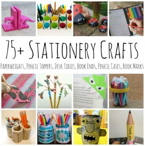 Over 75 Stationery Crafts - for stationery lovers - from book ends, to pencil pots, to paper weights and pencil toppers