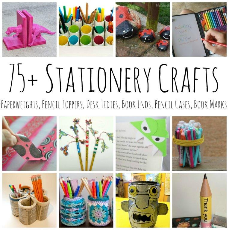 Back to school diy ideas stationery crafts red ted art for School diy ideas