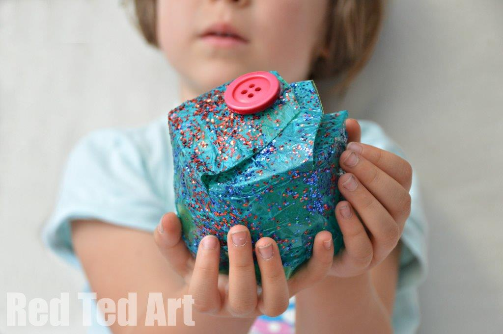 DIY Gift Box For Kids Recycled Plastic Bottle