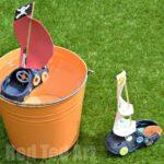 Upcycled Crocs Boat Craft