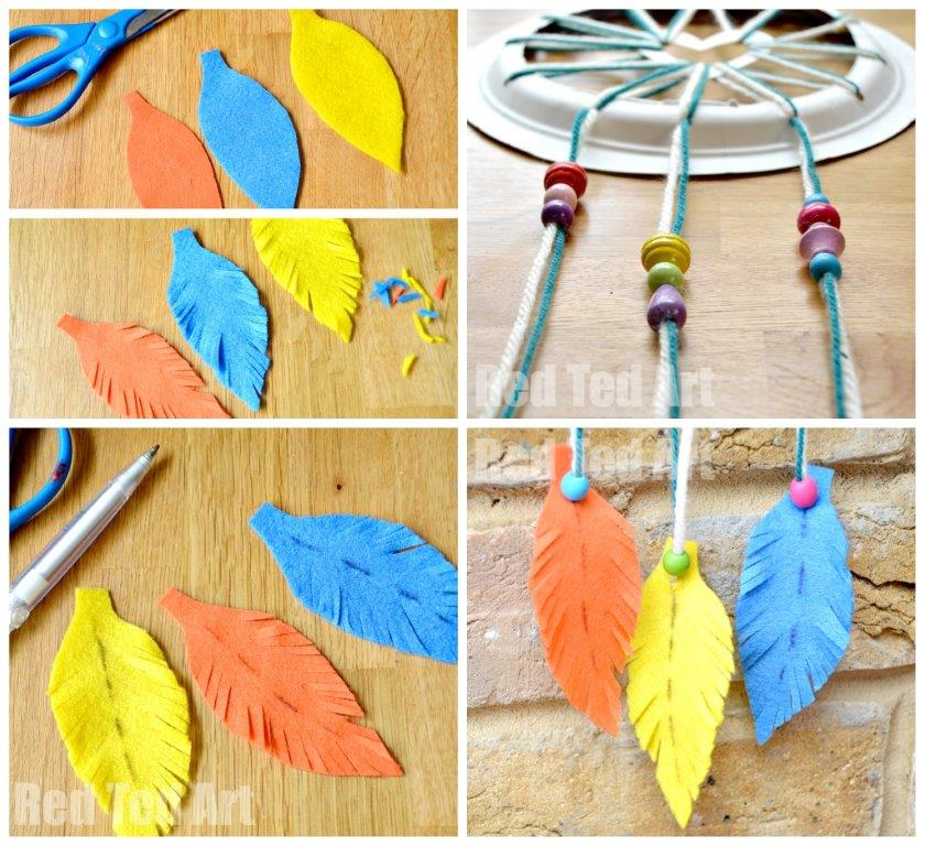 Paper plate crafts dream catchers with hearts red ted for Ideas for making dream catchers