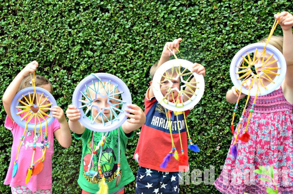 Paper Plate Crafts Dream Catchers With Hearts Red Ted Art's Blog Classy Children's Dream Catcher