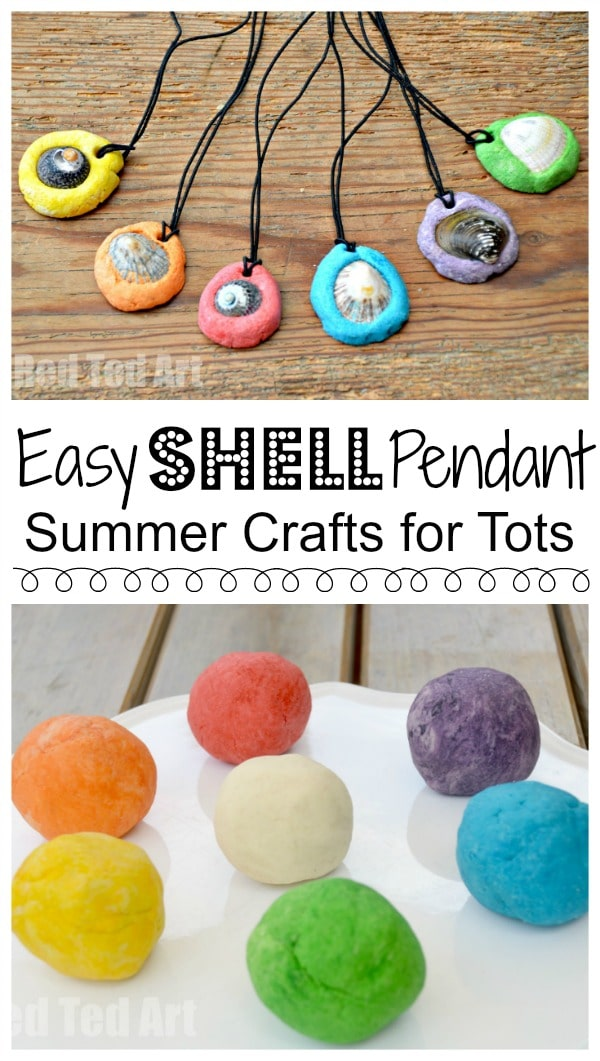 Easy salt dough keepsakes shell pendants easy shell pendants these are such easy and sweet and inexpensive shell pendants to make aloadofball Choice Image