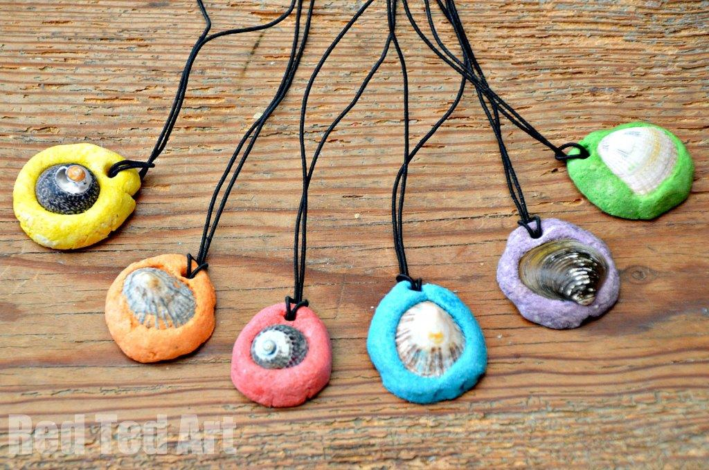 Easy Salt Dough Keepsakes Shell Pendants