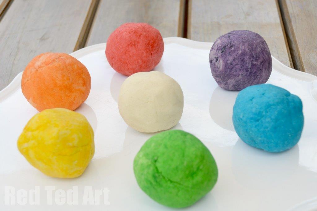 Simple Colour Saltdough recipe