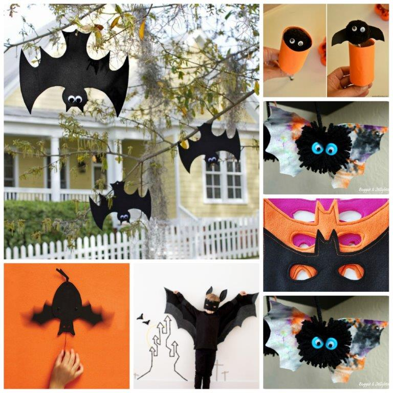 25 cute bat crafts for halloween and bat lovers - Halloween Art For Kindergarten