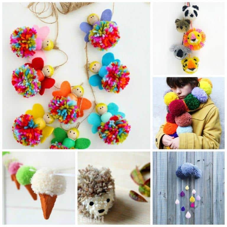 The Pom Pom Ornament Craft That Never Ends: 25 Wonderful Pom Pom Crafts And Project Ideas