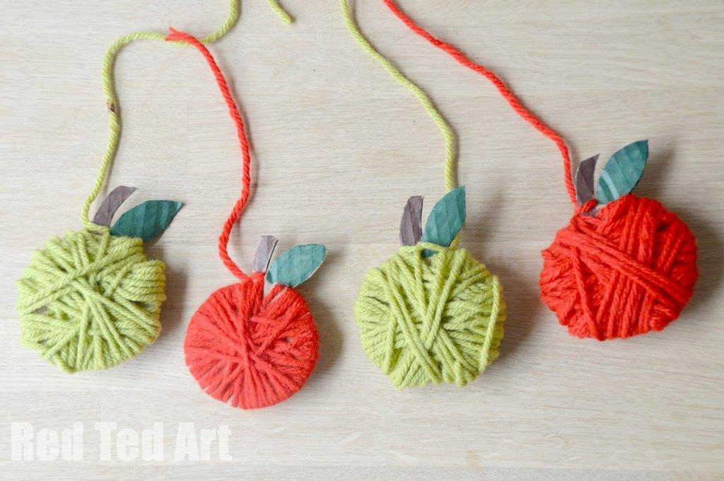 Easy Apple Garland Craft for Kids