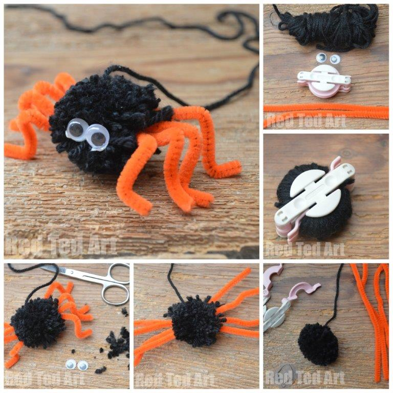 Little Miss Muffet Spider Craft - Step by Step