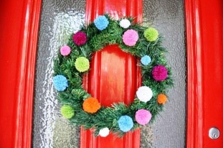 Pompom-xmas-wreath