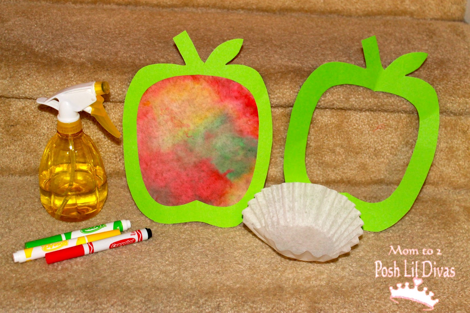 apple crafts - coffee filters