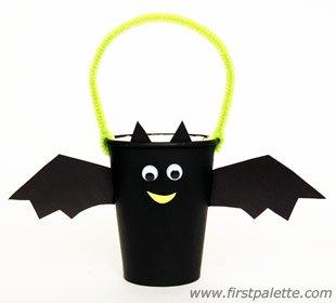 paper cup bat craft