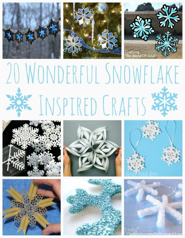 20 Wonderful Snowflake Crafts - I am going to try these! Love snowflake crafts as DIY Winter Decor. So very pretty! #snowflakes #snowflakecrafts #diysnowflakes #winter #wintercrafts