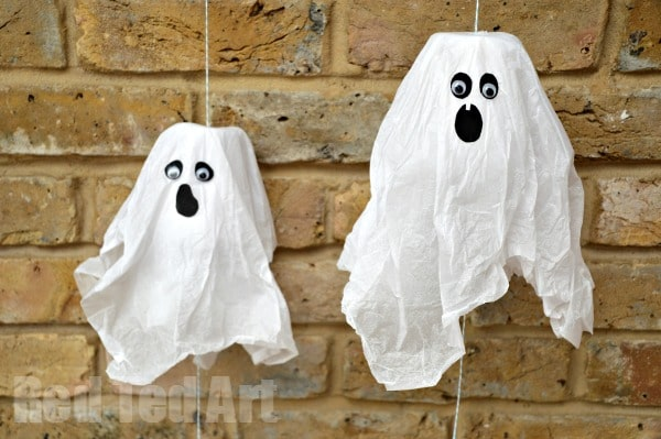 Mini Ghost Pinatas – 5min Paper Cup Craft for Halloween