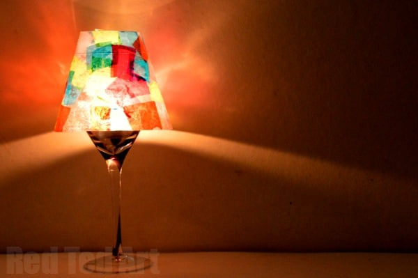 DIY Wine Glass Lampshade for Kids to Make